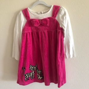 Gymboree Jumper w/Attached Shirt Hot Pink Size 5T